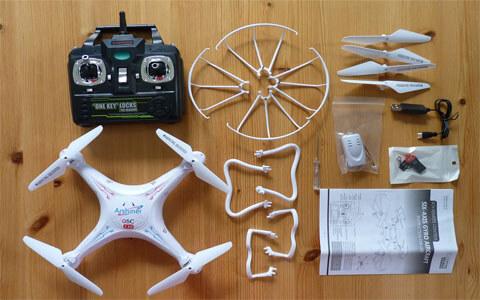 Lieferumfang der Q5C Drohne