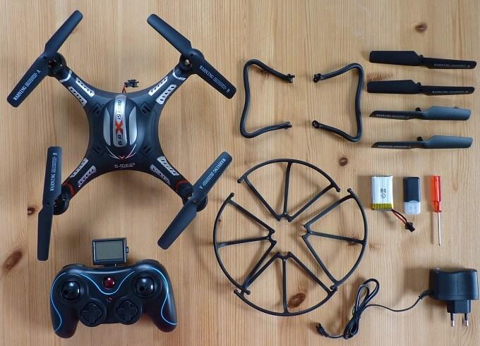 Lieferumfang der S-Idee Drohne S183 im Test