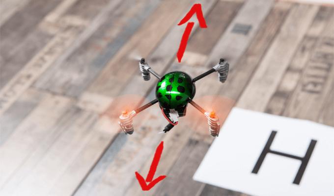 Drohne fliegen lernen: Schritt 1 Nick