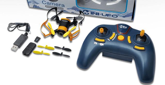 Lieferumfang der kleinen Hasakee Mini Drohne