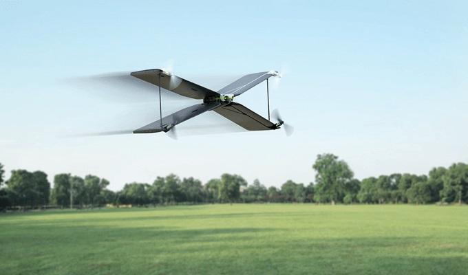 Parrot Swing als Flugzeug