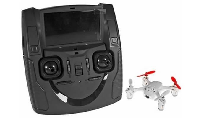 FPV-Bild auf Funke mit Bildschirm der Hubsan X4