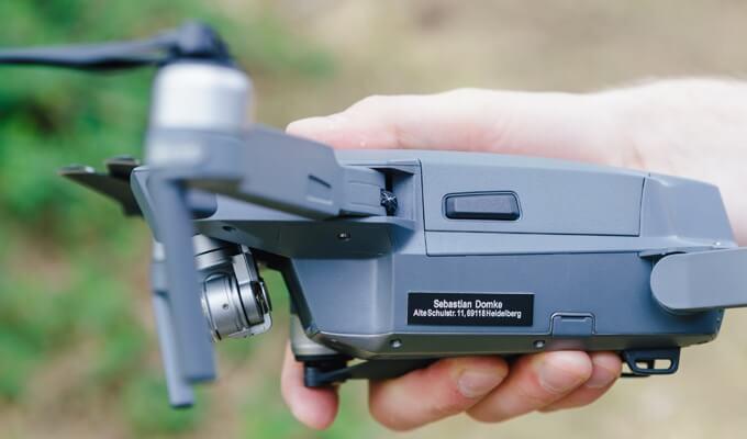 Feuerfeste Plakette für Drohnen