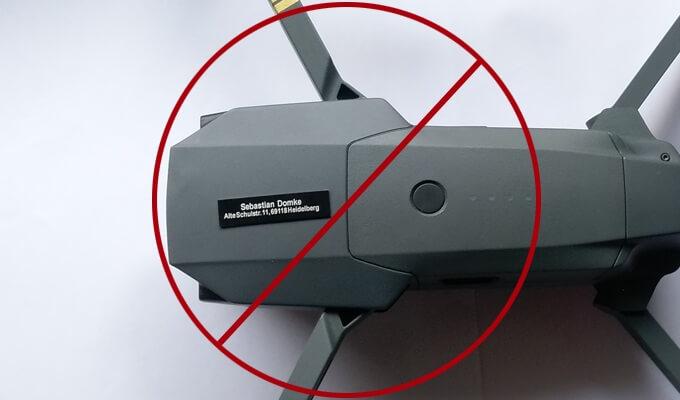 Drohnen Plakette für DJI Mavic Pro