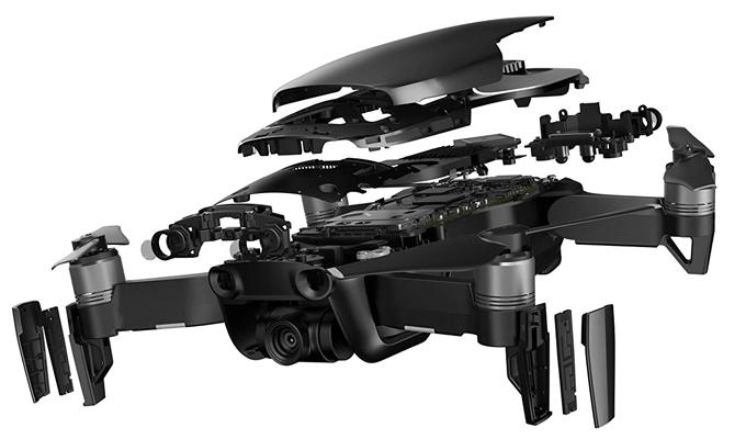 Sensoren und technische Daten der Air Drohne
