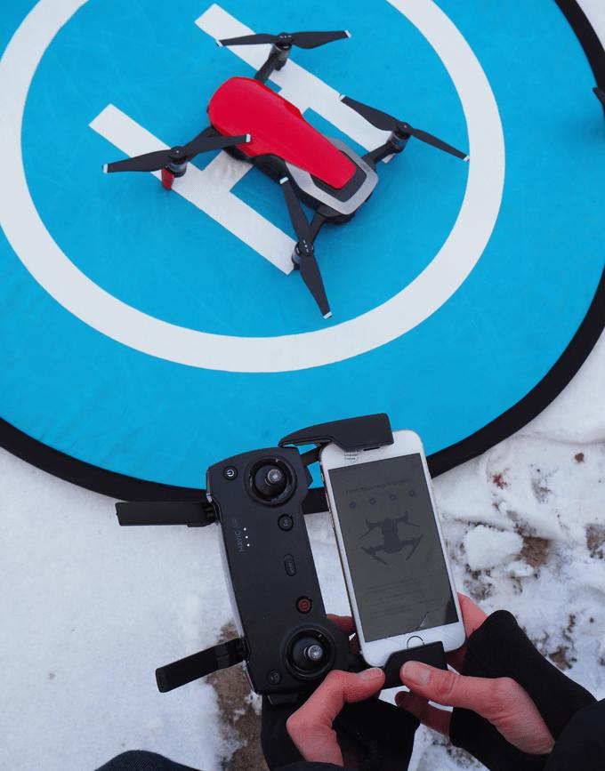 Fernsteuerung des Mavic auf mit Drohne verbinden