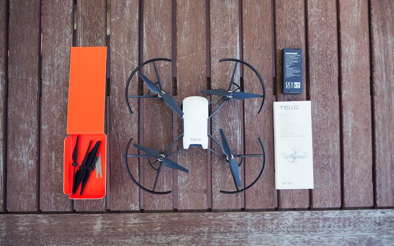 Lieferumfang der Ryze Tello Drohne