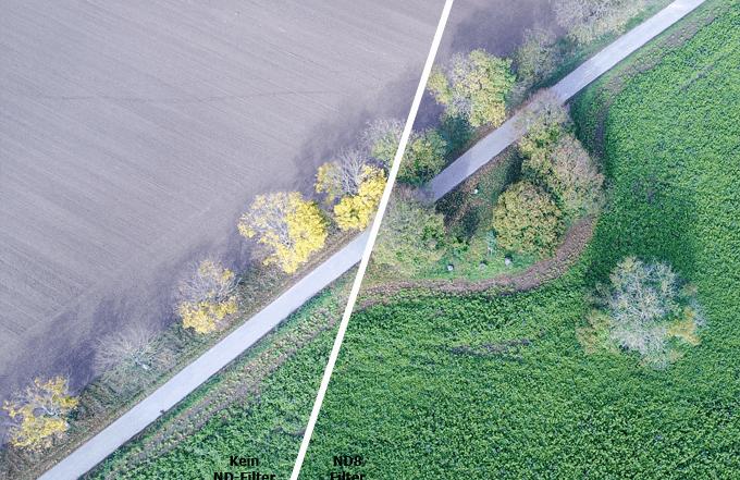 ND-Filter für DJI Mavic 2 Pro: Bildvergleich bei Luftaufnahmen