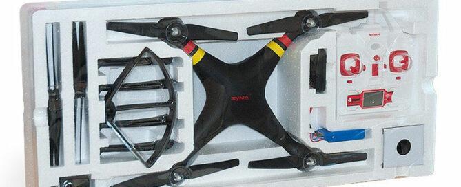 Lieferumfang der Syma X8 Kameradrohne