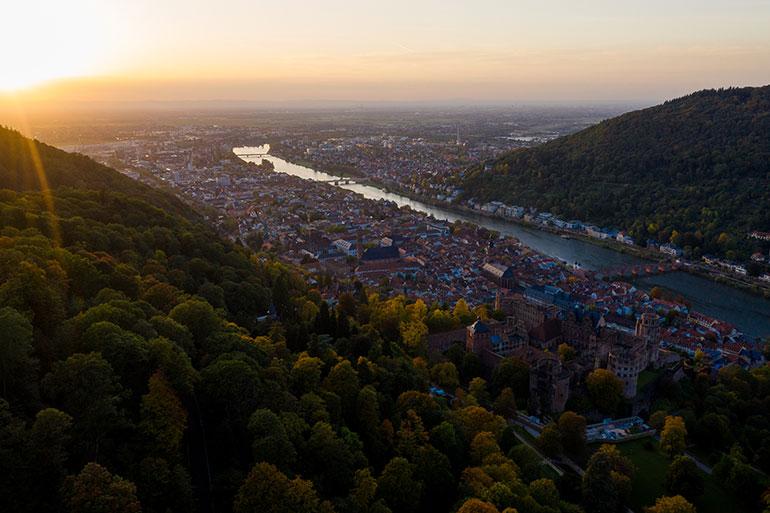 DJI Mavic 2 Pro Test Bild über Heidelberg