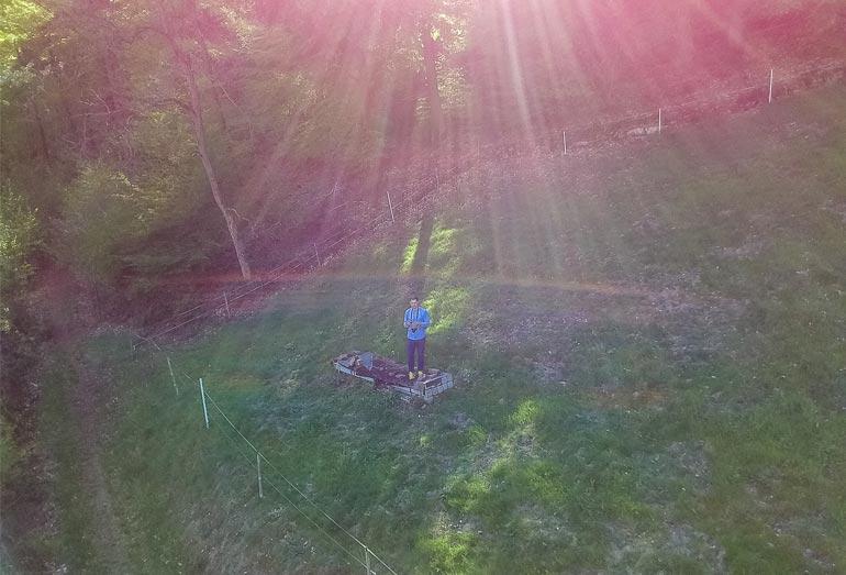 Mini Drohne Tello: Testbild im Gegenlicht