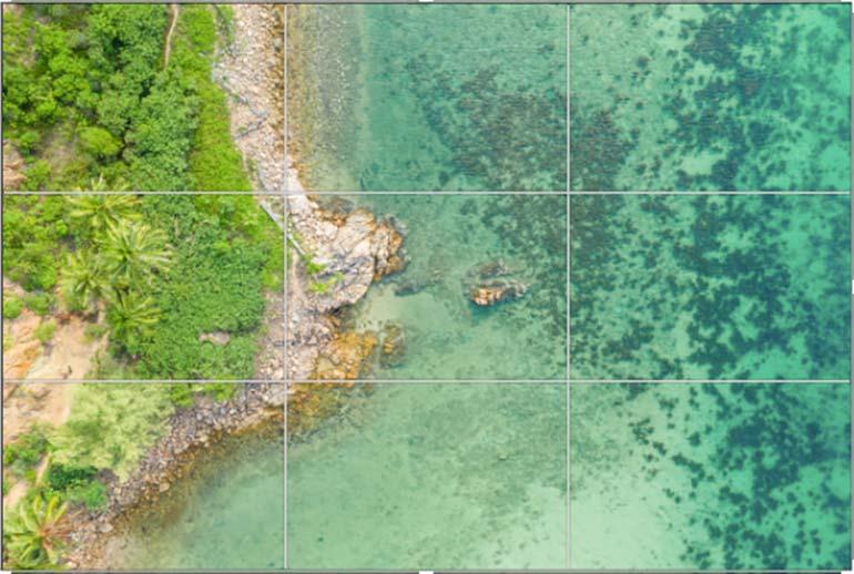 Goldener Schnitt in der Fotografie für gute Drohnenfotos