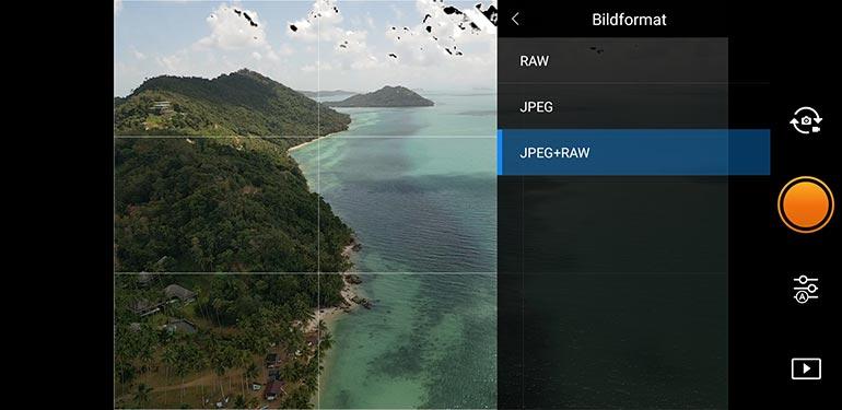 Das richtige Dateiformat für Drohnenfotos